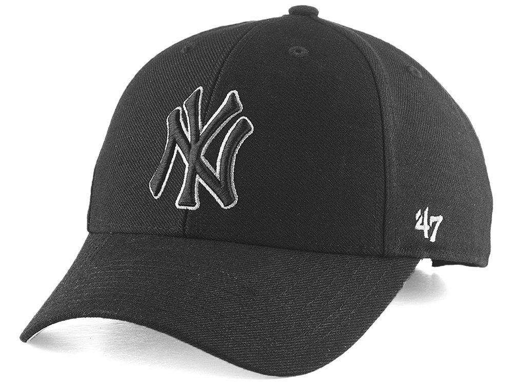 New York Yankees  47 MLB Black Team Color  47 MVP Cap  e094dd540007