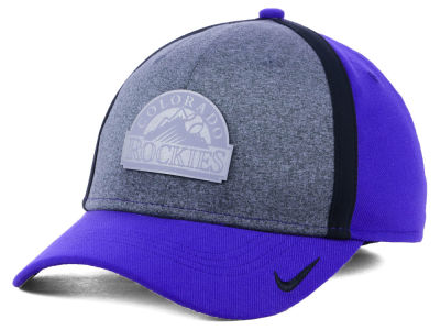 Colorado Rockies Nike MLB Team Color Reflective Swooshflex Cap