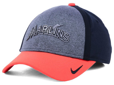 Miami Marlins Nike MLB Team Color Reflective Swooshflex Cap