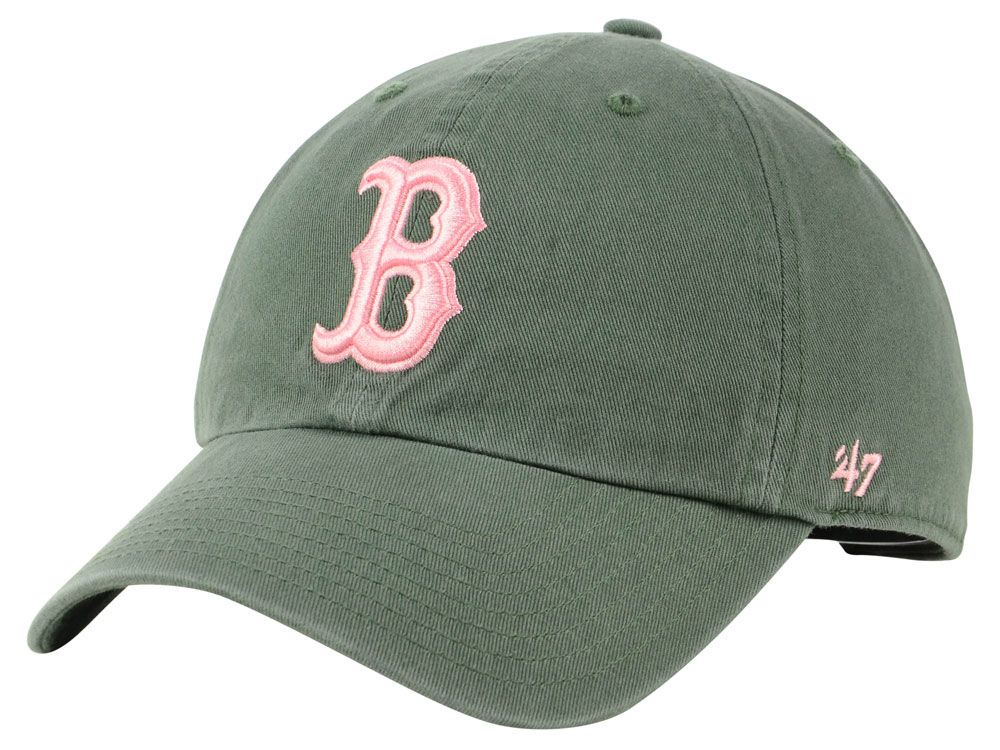 00265ac2597 Boston Red Sox  47 MLB Moss Pink  47 CLEAN UP Cap
