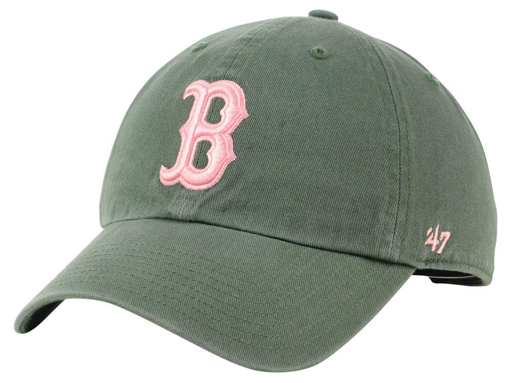d4a7e9f4ba9 Boston Red Sox  47 MLB Moss Pink  47 CLEAN UP Cap