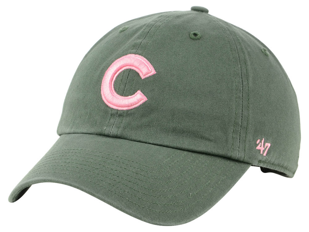 detailed look 9575d 291db ... spain chicago cubs 47 mlb moss pink 47 clean up cap 86f42 57871