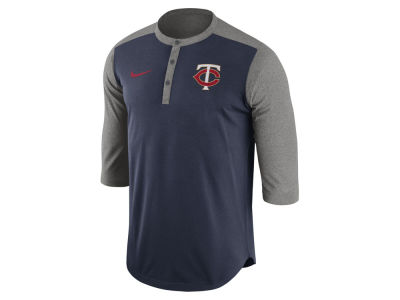 Minnesota Twins Nike MLB Men's Dri-Fit 3/4 Sleeve Henley T-Shirt