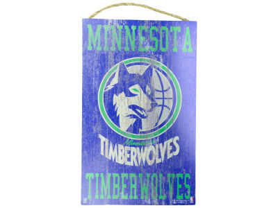 Minnesota Timberwolves 11x19 Heritage Distressed Logo Sign