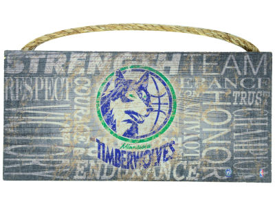 Minnesota Timberwolves 6x12 Heritage Wood College Sign