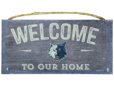 Minnesota Timberwolves 6x12 Welcome Wood College Sign