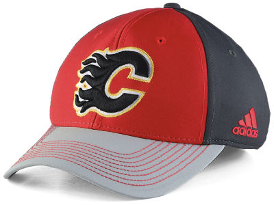 Calgary Flames adidas NHL Structured Flex Cap