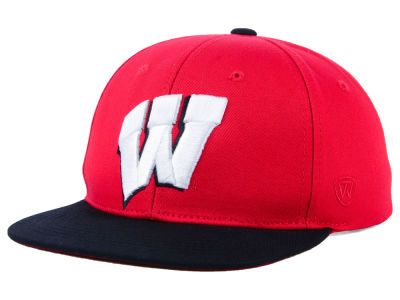 Wisconsin Badgers Top of the World NCAA Youth Maverick Snapback Cap