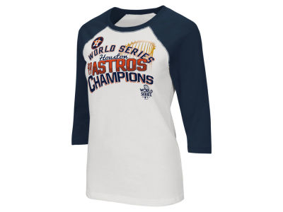 Houston Astros G-III Sports 2017 MLB Women's World Series Champ Raglan T-Shirt