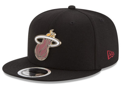 Miami Heat New Era NBA Enamel Badge 9FIFTY Snapback Cap