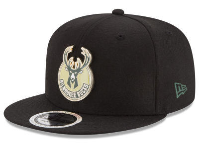 Milwaukee Bucks New Era NBA Enamel Badge 9FIFTY Snapback Cap