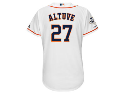 Houston Astros Jose Altuve Majestic 2017 MLB Women's World Series Champ Player Patch Jersey