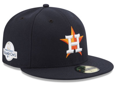Houston Astros New Era 2017 MLB World Series Champ Patch Authentic 59FIFTY Cap