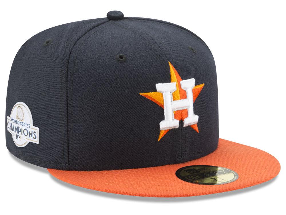 7a8b7cbd5e46a Houston Astros New Era 2017 MLB World Series Champ Patch Authentic 59FIFTY  Cap