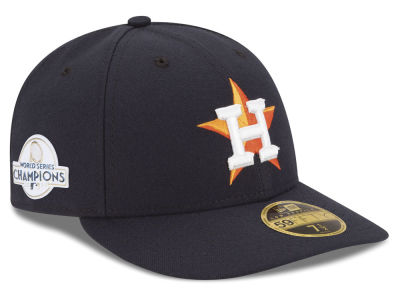 Houston Astros New Era 2017 MLB World Series Champ Patch Low Profile 59FIFTY Cap