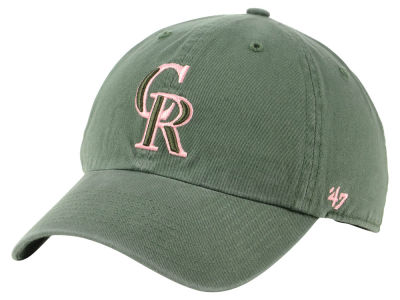 Colorado Rockies '47 MLB Moss Pink '47 CLEAN UP Cap