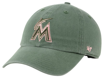 Miami Marlins '47 MLB Moss Pink '47 CLEAN UP Cap