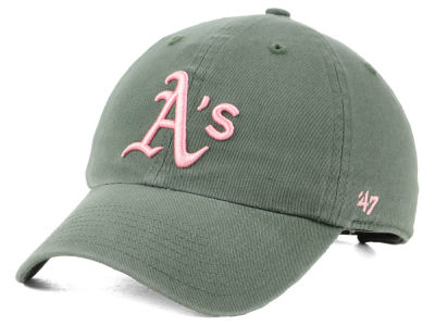 Oakland Athletics '47 MLB Moss Pink '47 CLEAN UP Cap