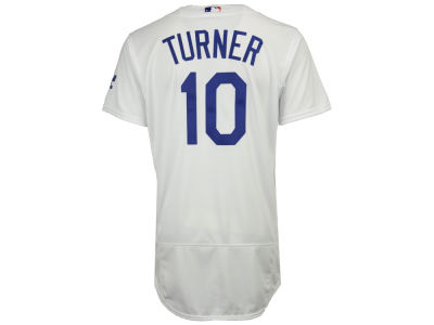 Los Angeles Dodgers Justin Turner Majestic MLB Men's Flexbase On-Field Player Jersey