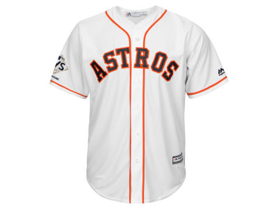 Houston Astros Majestic 2017 MLB Men's World Series Champ Patch Player Cool Base Jersey