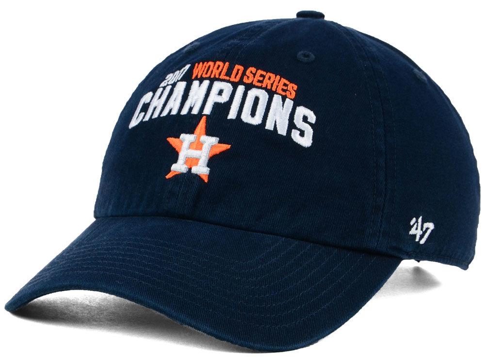 bfc56d27cf3 Houston Astros  47 2017 MLB World Series Champ CLEAN UP Cap