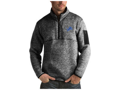 Detroit Lions Antigua NFL Men's Fortune Quarter Zip
