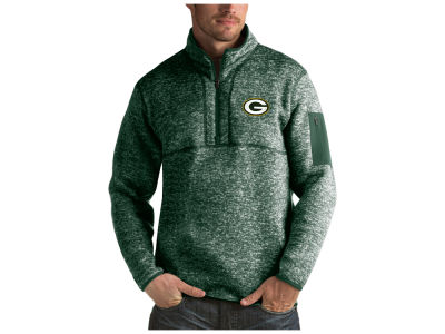 Green Bay Packers Antigua NFL Men's Fortune Quarter Zip