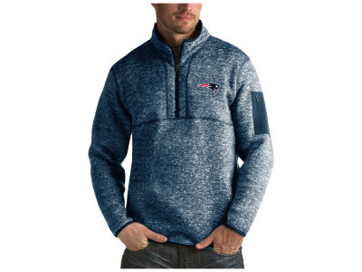 New England Patriots Antigua NFL Men's Fortune Quarter Zip