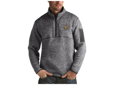 New Orleans Saints Antigua NFL Men's Fortune Quarter Zip
