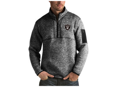 Oakland Raiders Antigua NFL Men's Fortune Quarter Zip