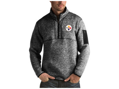 Pittsburgh Steelers Antigua NFL Men's Fortune Quarter Zip