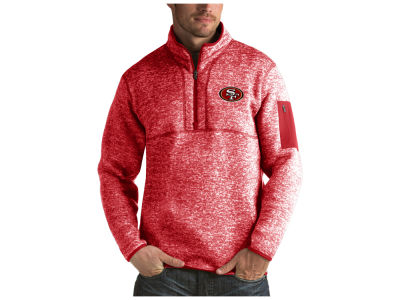 San Francisco 49ers Antigua NFL Men's Fortune Quarter Zip