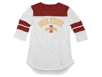 Iowa State Cyclones Blue 84 NCAA Men's Tri-Blend 3/4 Sleeve Yolk T-Shirt