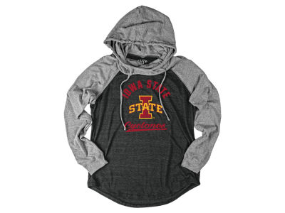 Iowa State Cyclones Blue 84 NCAA Women's Tri-blend Pullover Hooded Sweatshirt