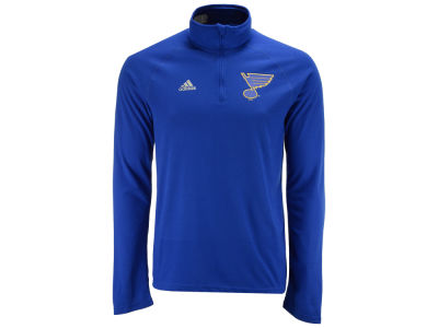 St. Louis Blues adidas NHL Men's Left Defenseman Quarter Zip Pullover