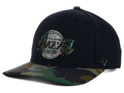 Los Angeles Lakers '47 NBA Caster Camo '47 MVP Cap