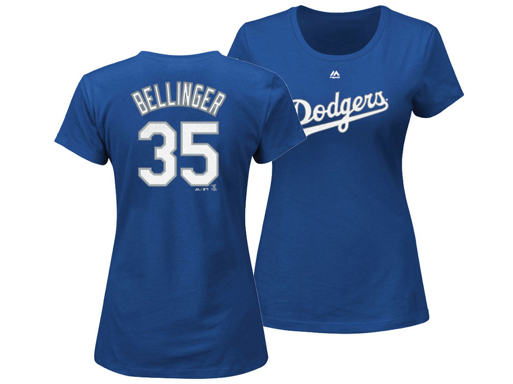 Los Angeles Dodgers Cody Bellinger Majestic MLB Women s Crew Player T-Shirt   ad8b99ae5d3