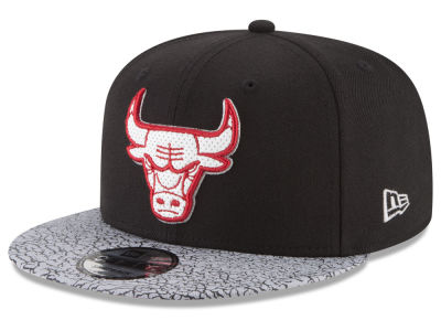 Chicago Bulls New Era NBA Black Cement Hook Cap