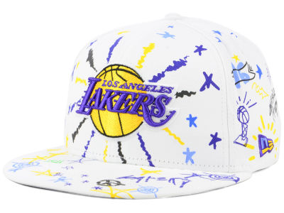 Los Angeles Lakers New Era NBA Write On 9FIFTY Snapback Cap