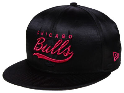 Chicago Bulls New Era NBA Black Satin 9FIFTY Snapback Cap