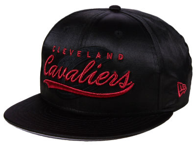 Cleveland Cavaliers New Era NBA Black Satin 9FIFTY Snapback Cap