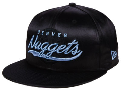 Denver Nuggets New Era NBA Black Satin 9FIFTY Snapback Cap