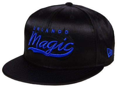 Orlando Magic New Era NBA Black Satin 9FIFTY Snapback Cap