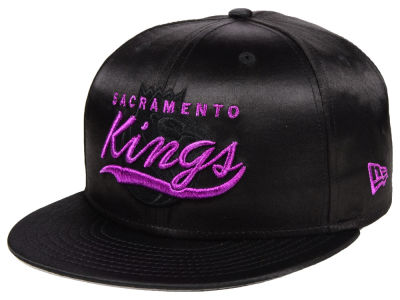 Sacramento Kings New Era NBA Black Satin 9FIFTY Snapback Cap