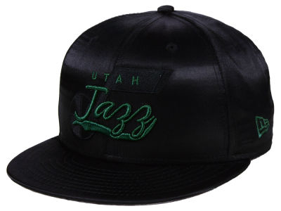 Utah Jazz New Era NBA Black Satin 9FIFTY Snapback Cap