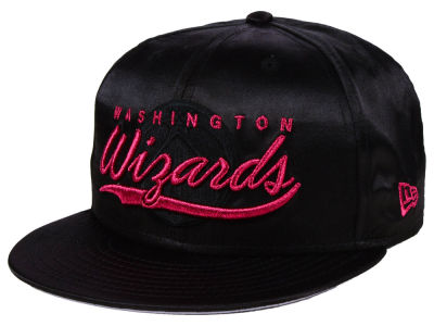 Washington Wizards New Era NBA Black Satin 9FIFTY Snapback Cap