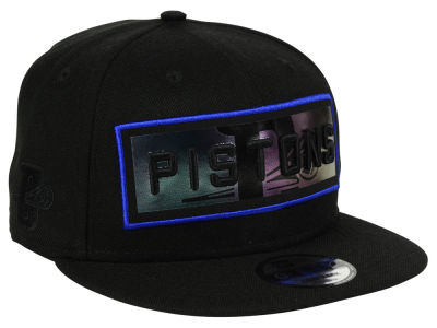 Detroit Pistons New Era NBA Iridescent Stripe 9FIFTY Snapback Cap