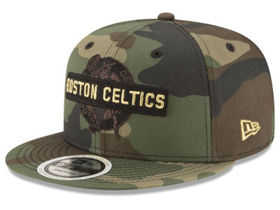 Boston Celtics New Era NBA Gold Word 9FIFTY Snapback Cap