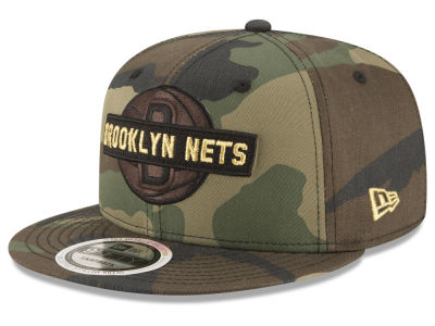 Brooklyn Nets New Era NBA Gold Word 9FIFTY Snapback Cap