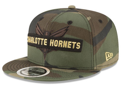 Charlotte Hornets New Era NBA Gold Word 9FIFTY Snapback Cap